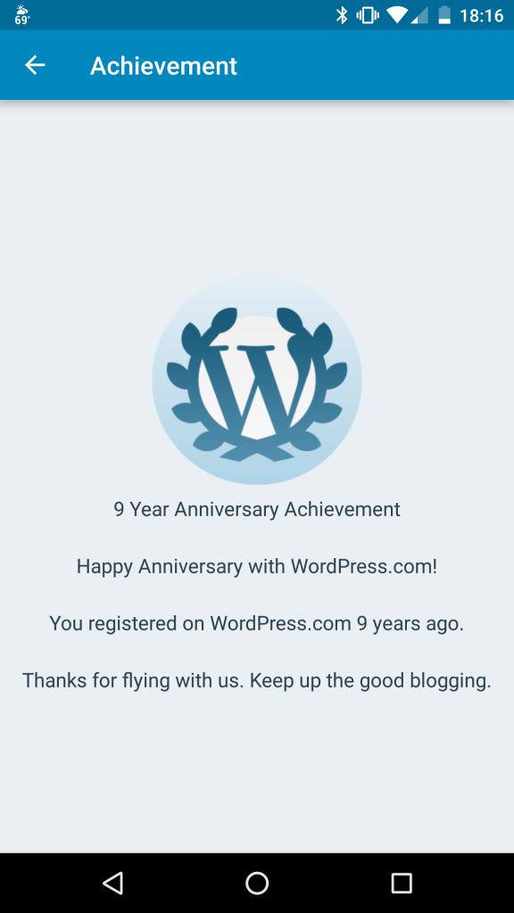 WordPress.com anniversary
